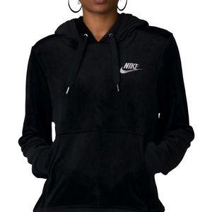 Nike velour pullover hoodie